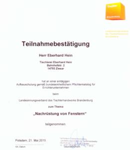 Zertifikat-Fenster-Sicherung